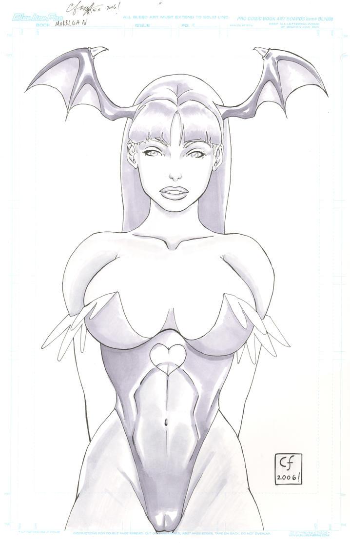 Morrigan From Darkstalkers by daikkenaurora