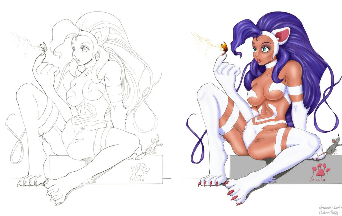 Felicia of DarkStalkers BUFFY by daikkenaurora