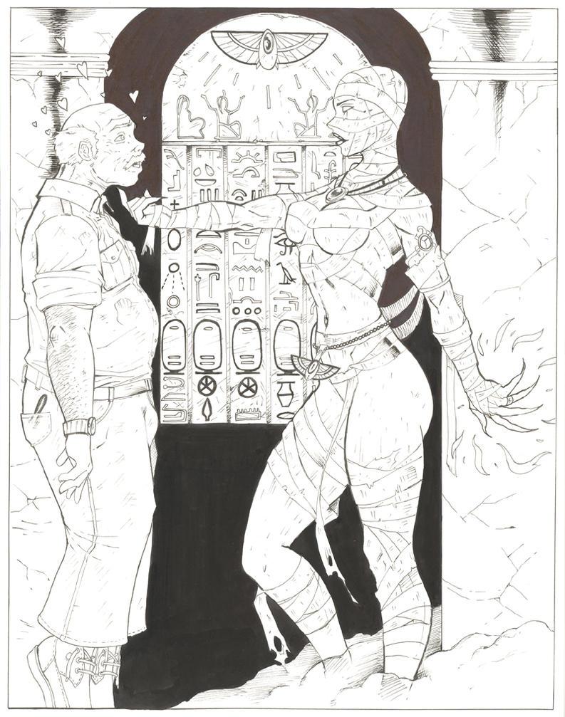 Egyptian Priestess 'REBORN' by daikkenaurora
