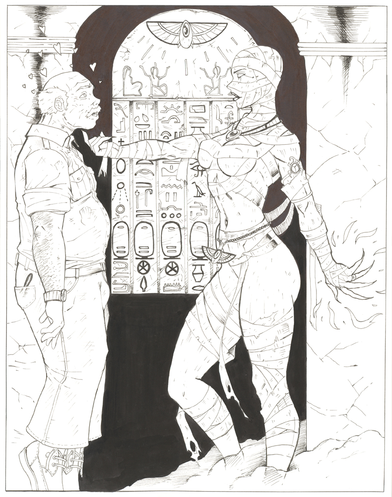 "Egyptian Priestess ""REBORN"" by daikkenaurora"