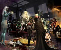 Knight Murder Mystery - Graver by Dark-Ether