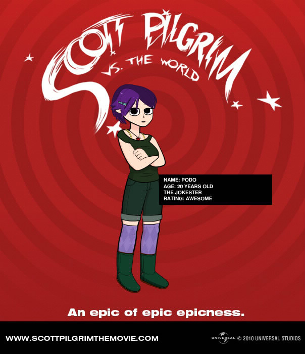 Podo's 2nd life ScottPilgrim-style by Manyface-Blake