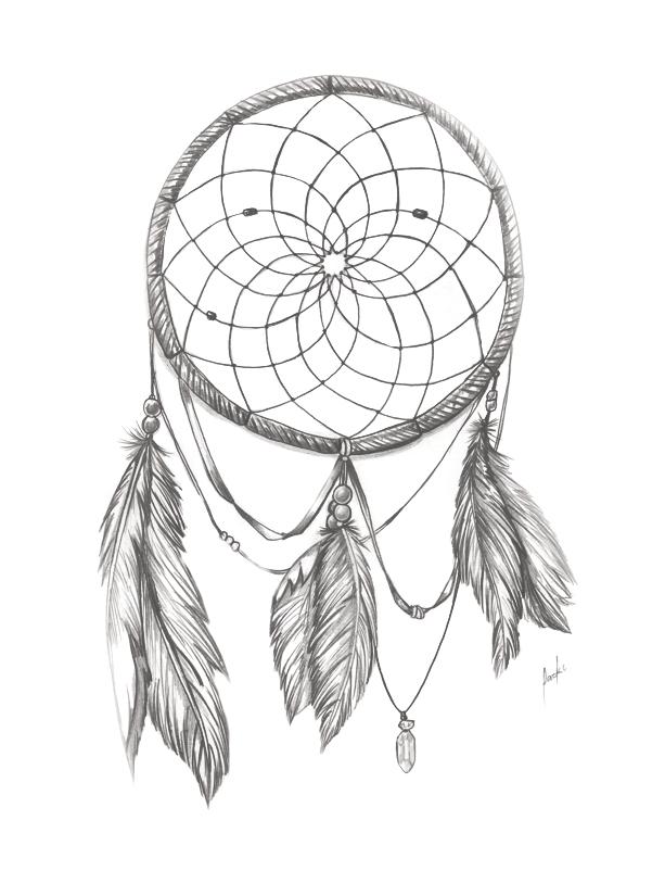 Dream Catcher BnW by packness on DeviantArt Simple Dreamcatcher Design ... Xoloitzcuintli On Sale