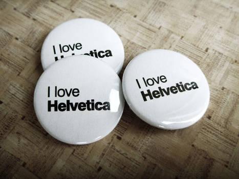 Helvetica badges