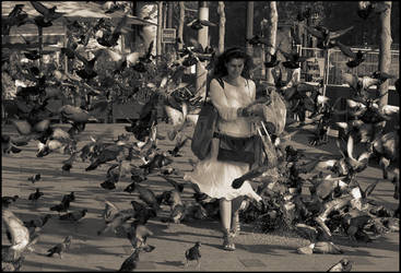 Birds lady 01 by Yousry-Aref