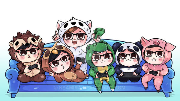 [Commission] Chibi group by nsamira