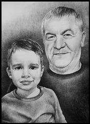 Portrait of Grandpa and Grandson