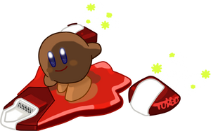 Kirby Air Ride: Brown Kirby