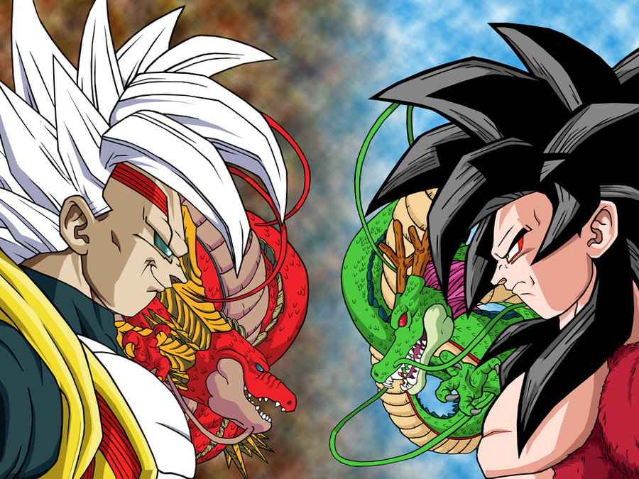 Baby Vegeta VS Goku SSJ4 2 by Markael on DeviantArt