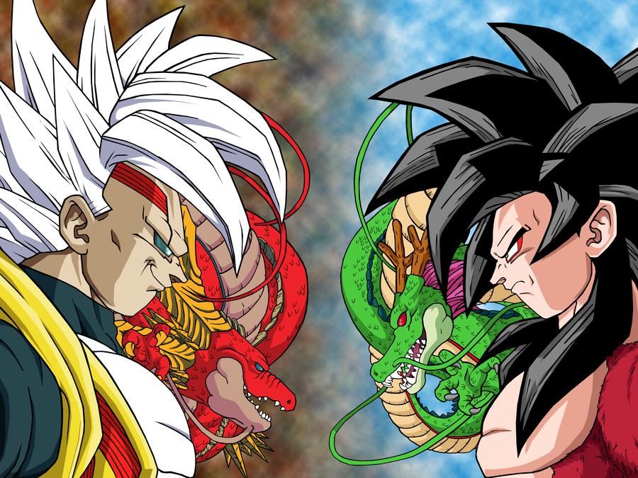 Baby Vegeta VS Goku SSJ4 2 by Markael on DeviantArt