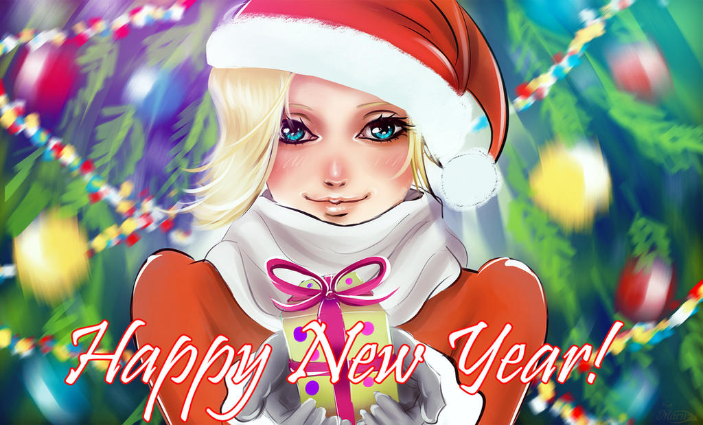 Christmas and New Year Mercy from Overwatch by Maru-chanKa on ...