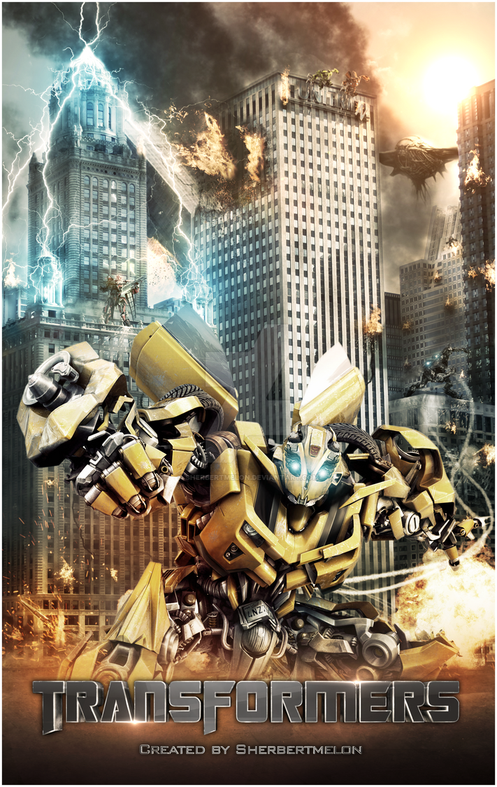 Transformers Movie Poster NEW by Sherbertmelon