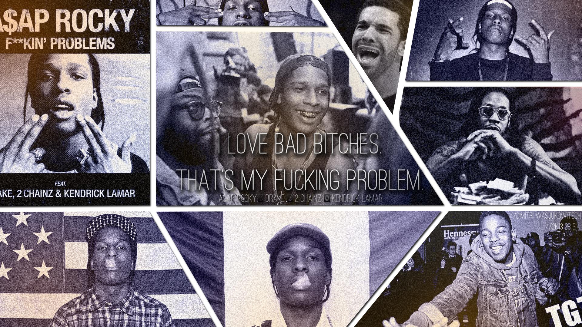 A Ap Rocky Drake 2 Chainz Kendrick Lamar Wallpaper By
