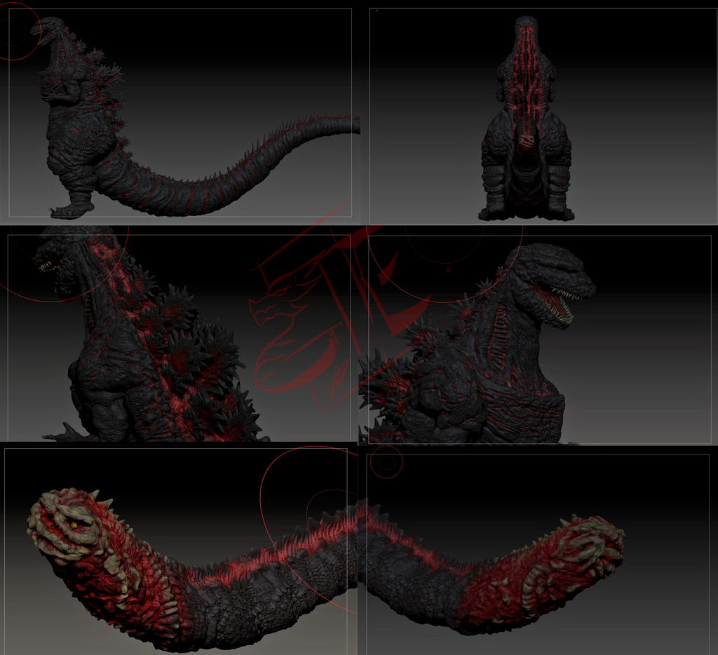 Shin'Gojira (paint progression) by Gabe-TKE