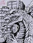Godzilla ( in the city)