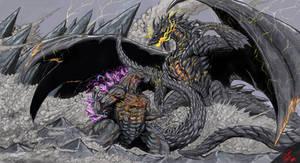 Scarlet Earth Vs The Black ( gods) by Gabe-TKE