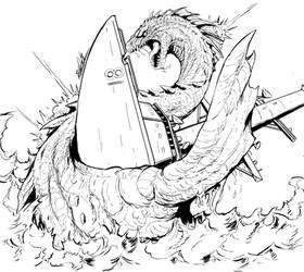 Nessie Attacks : (lines) by Gabe-TKE