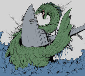 Nessie Attacks : (base colors) by Gabe-TKE