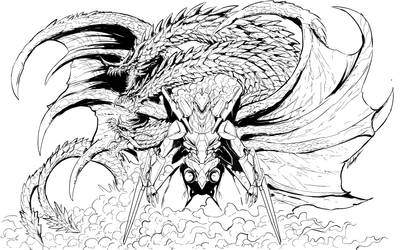 AntiG unit X Chaos Ghidorah (lines) by Gabe-TKE