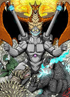 Godzilla vs The Robot Monsters ( color) by Gabe-TKE