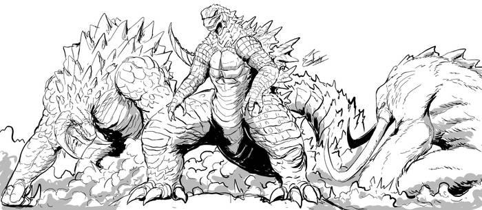 The King, The Behemoth, and Methuselah by Gabe-TKE
