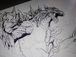 Ghost Godzilla ( progression)