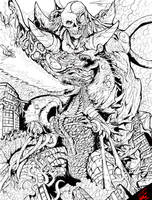 Godzilla Vs Deathla ( lines)
