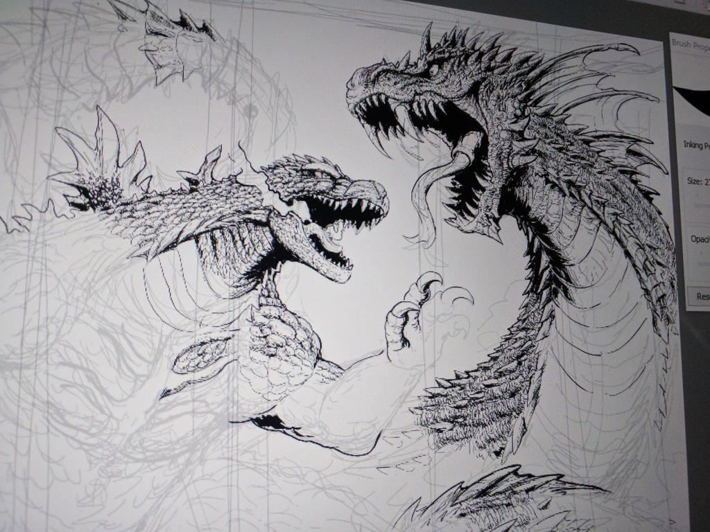Godzilla in Chicago ( progression)