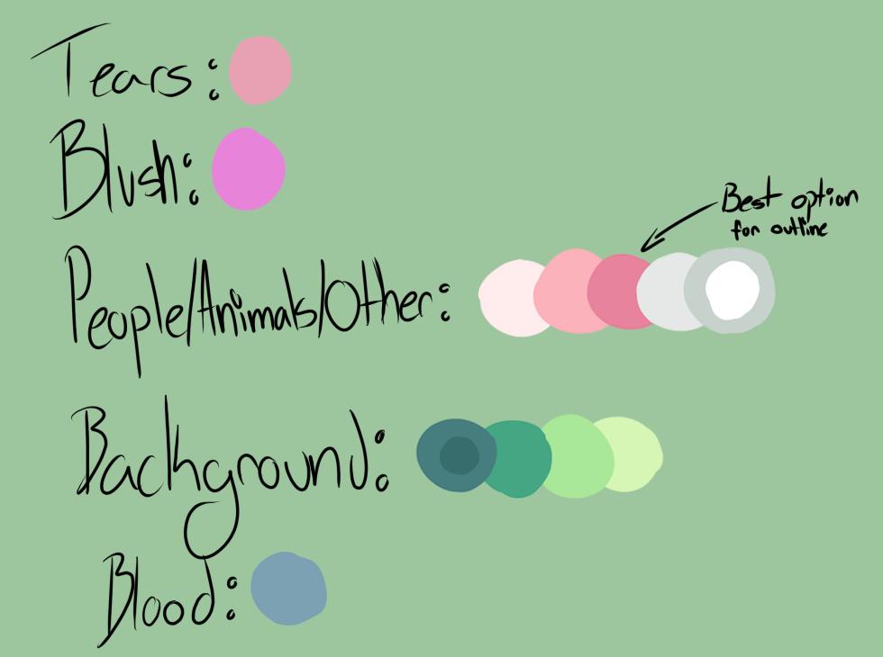 Color Palette for MAP by ThatNerdyDoodler