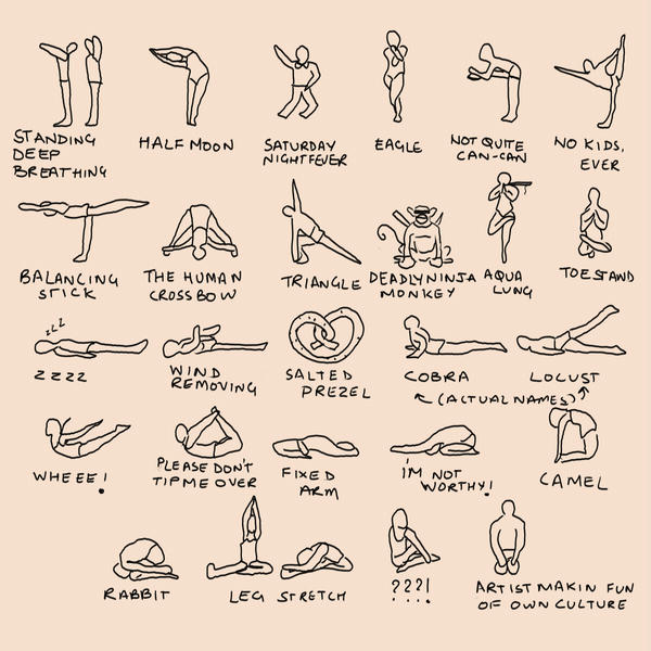 Yoga Postures Figure Stick Learning And Charts Name On By Anandb DeviantArt Spoof Bikram