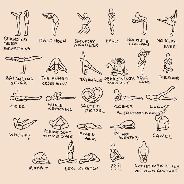 Bikram Yoga Postures Spoof By Anandb