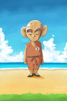 Young Krillin just chillin