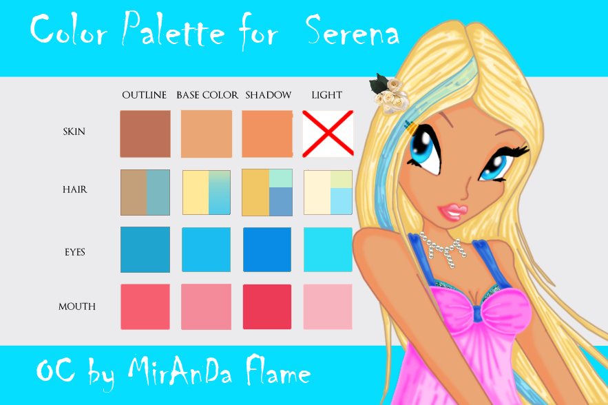Serena S Color Palette By Laddy Of Fire On Deviantart