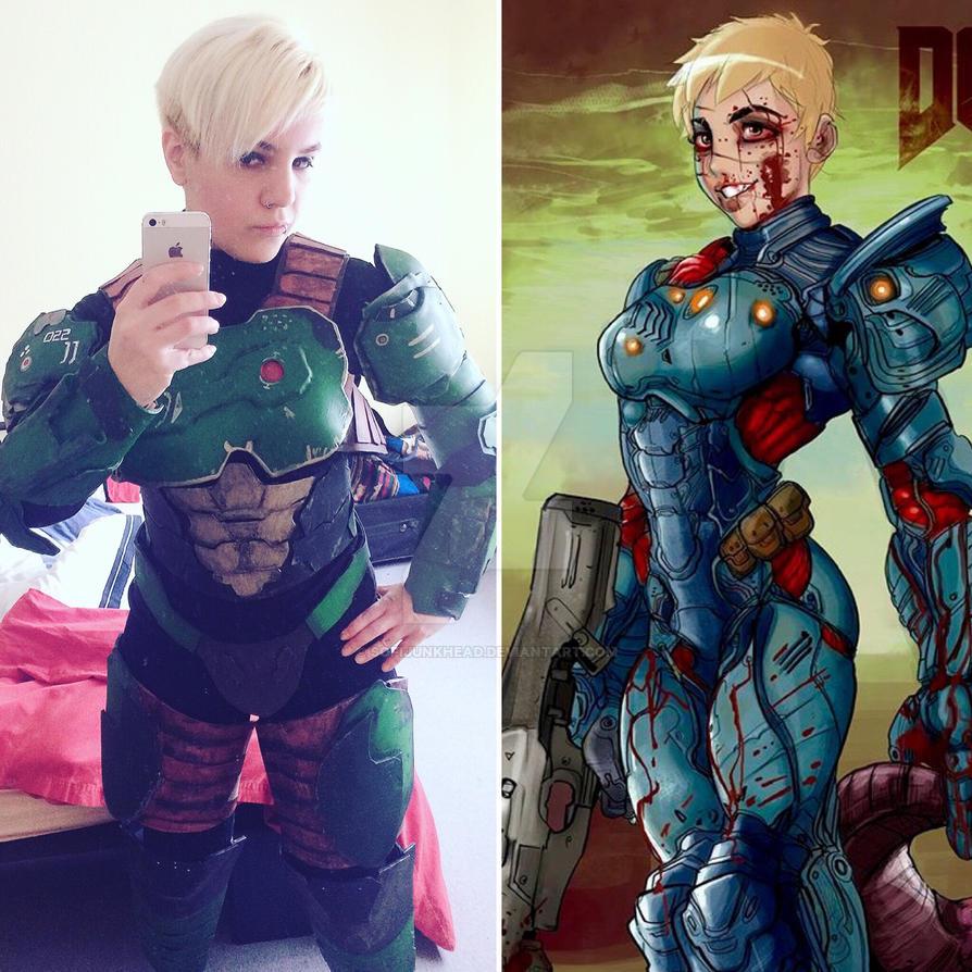 Doom marine cosplay by SofiJunkhead