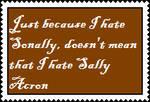 Anti-Sonally and not Anti-Sally Acorn by AllytheWolffy98