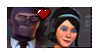 Red SpyXBlu Scout's mom stamp by AllytheWolffy98