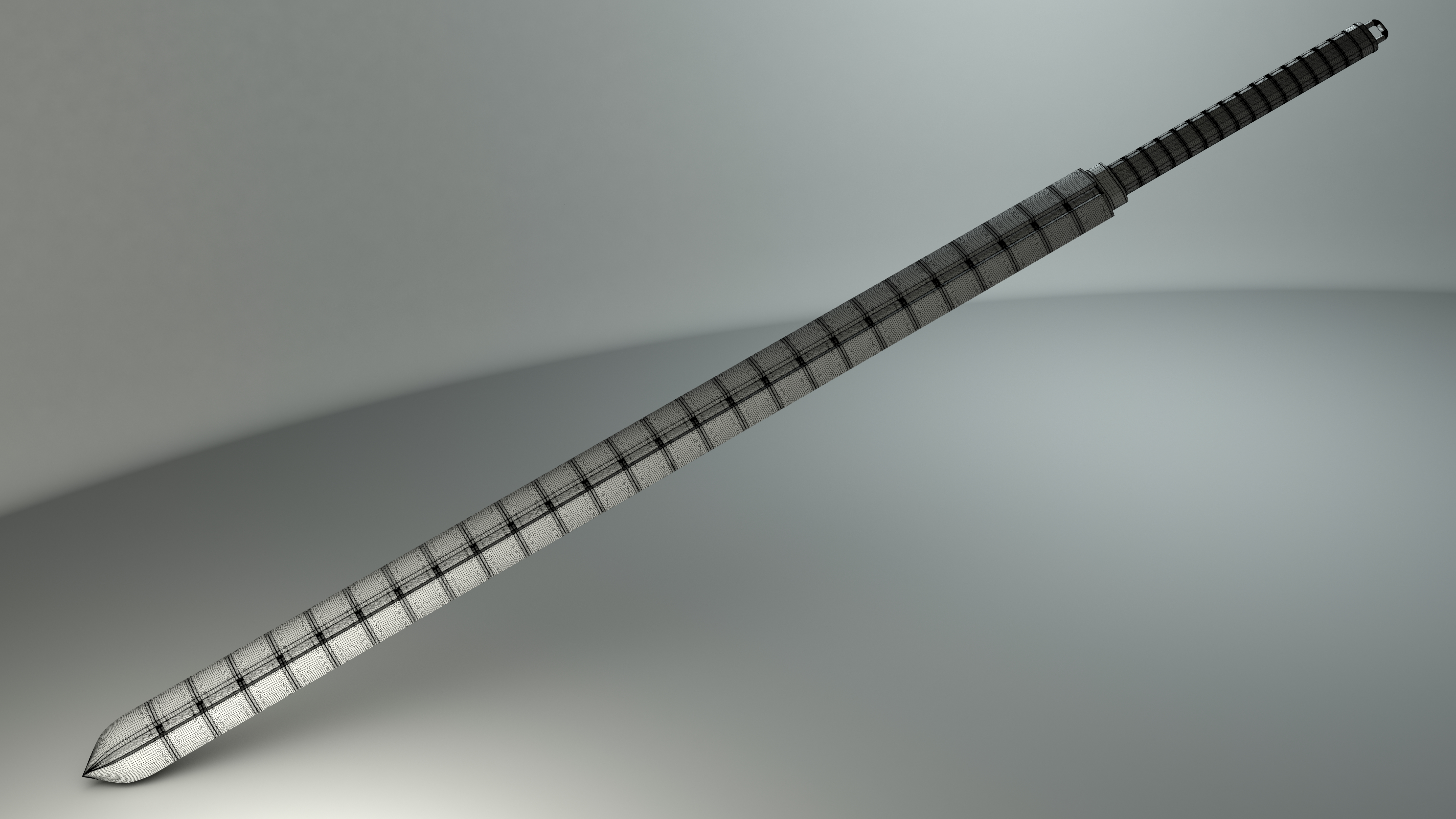 Whip Sword- Wireframe by JWright-3D-Graphics on DeviantArt