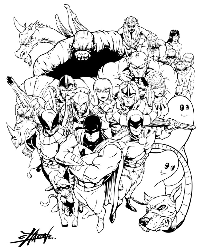 70s and 80s SuperHeroes Inks