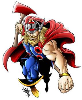 Thor fire fighter shirt design