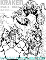 Kraken issue 3 cover by DCON