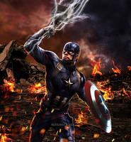 Captain America Avengers Endgame Mjolnir Illus. by RutilantBlaze