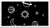 [stamp/F2U] black galaxy by liivingwithghosts