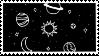 [stamp/F2U] black galaxy by liivingwithghosts