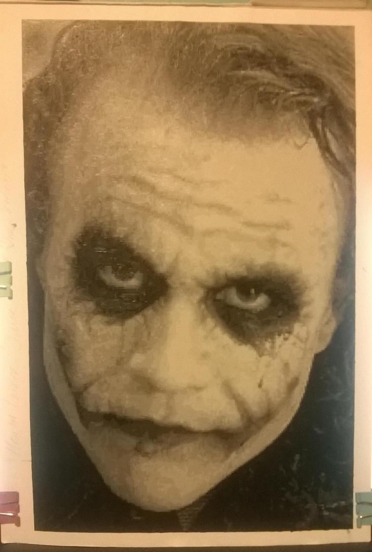 Heath Ledger Joker pixel painting. by leb82
