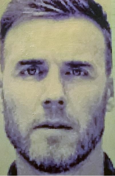 Gary Barlow mini pixel painting by leb82