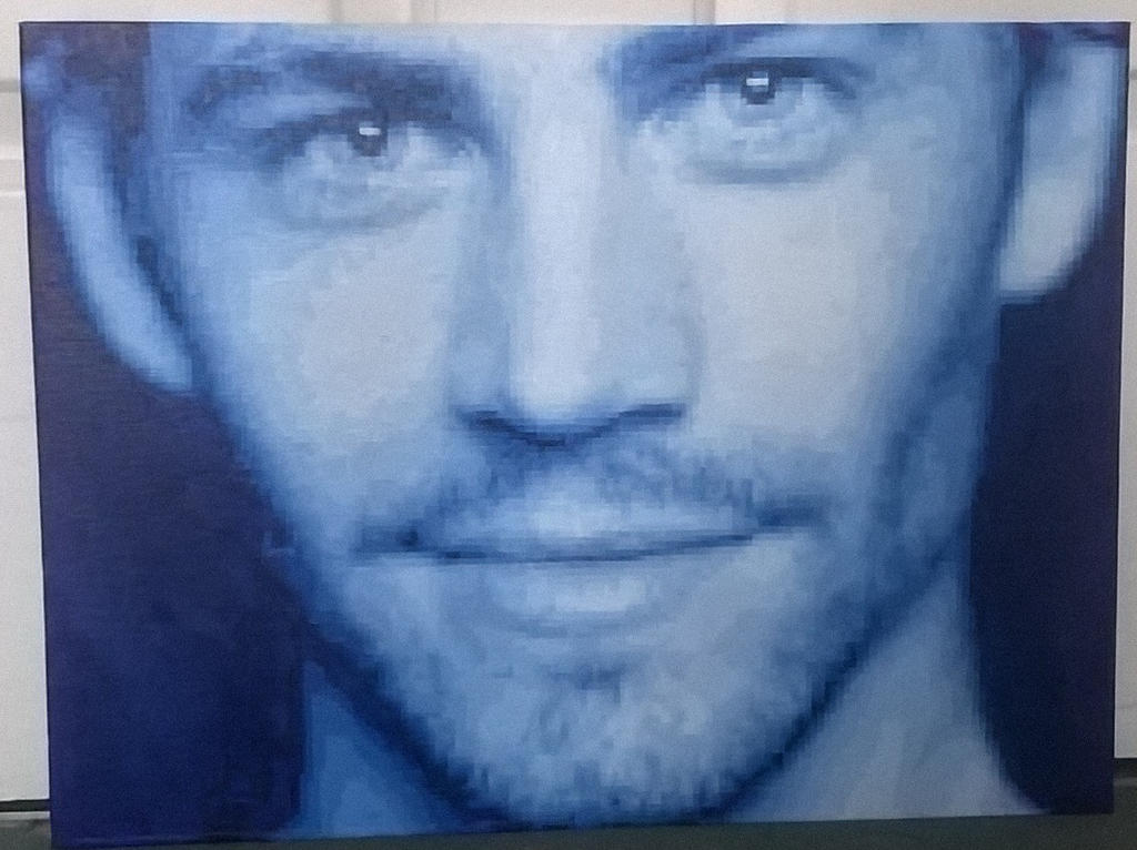 Paul Walker pixel painting. by leb82