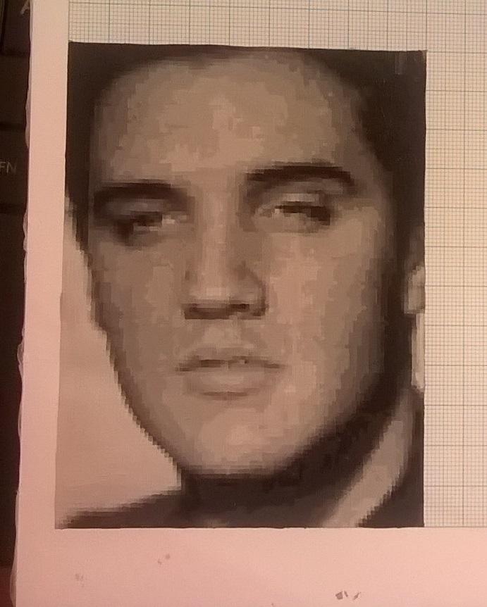 Elvis Presley mini pixel painting by leb82