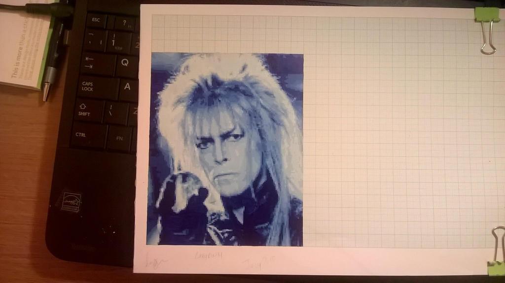David Bowie Labyrinth Mini Pixel Painting by leb82