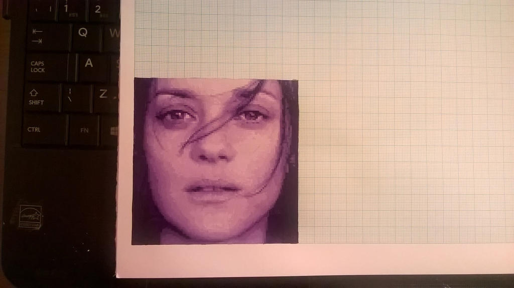 Marion Cotillard mini pixel painting by leb82