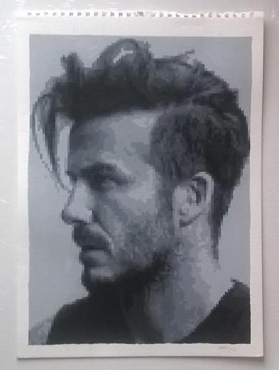 David Beckham pixel painting by leb82